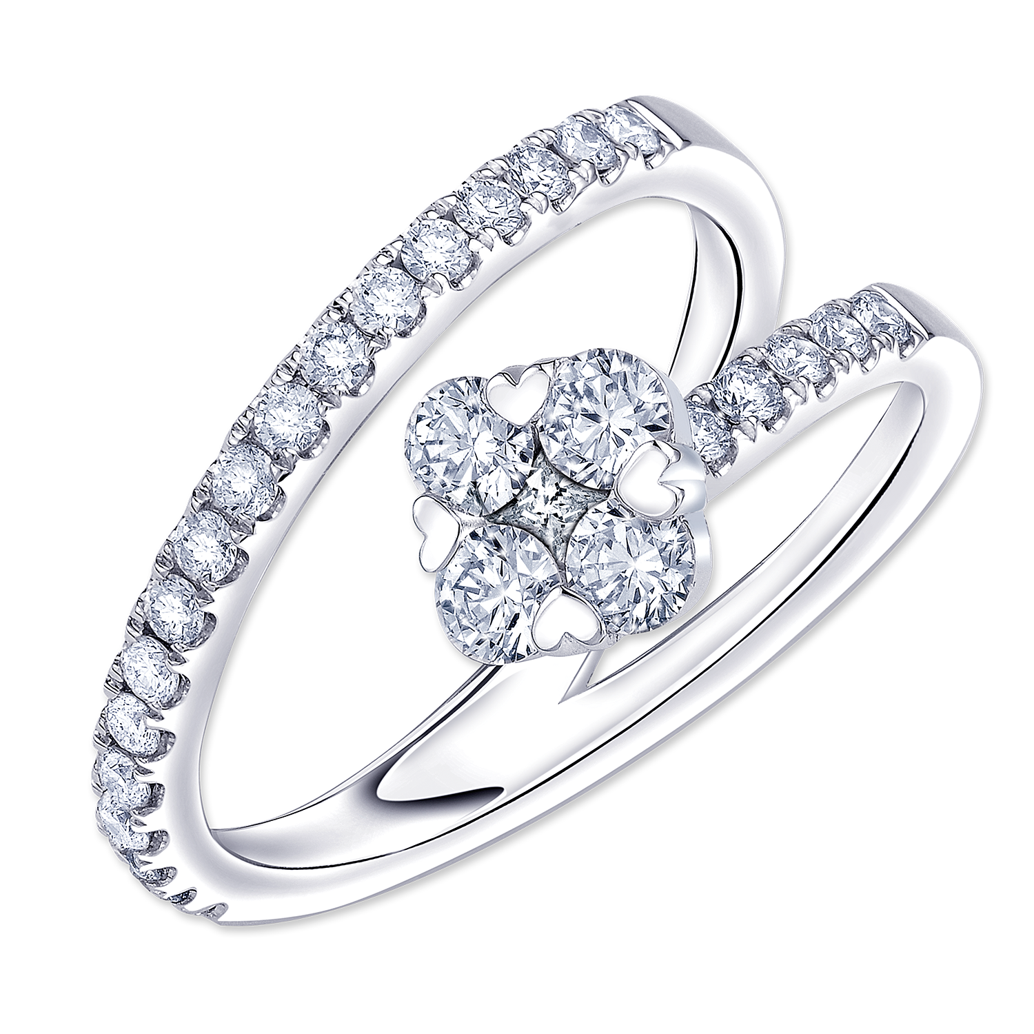 naveya diamond engagement the leo setting rings
